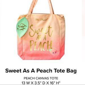 Too Faced Sweet as a Peach Canvas Tote